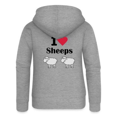 I-love-sheeps - Veste à capuche Premium Femme