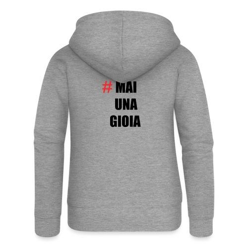 MAGLIA_1 - Felpa con zip premium da donna