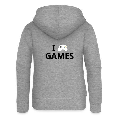 I Love Games - Chaqueta con capucha premium mujer