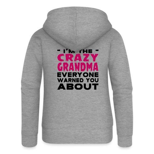 Crazy Grandma - Women's Premium Hooded Jacket