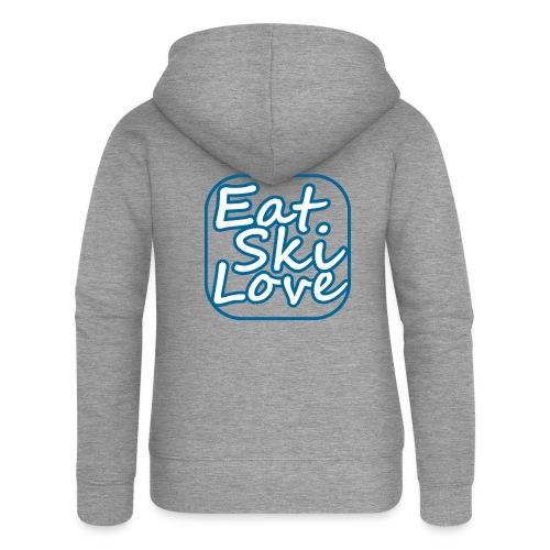 eat ski love - Vrouwenjack met capuchon Premium