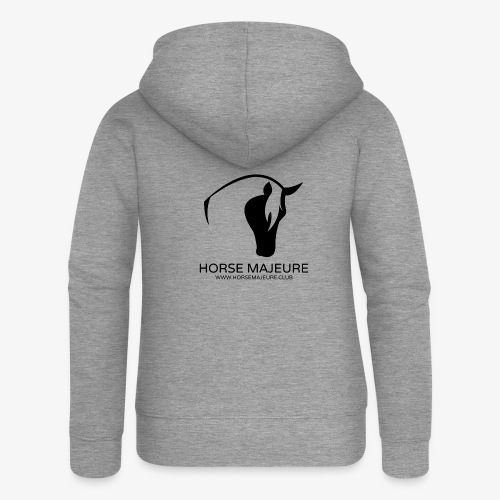 Horse Majeure Logo / Musta - Naisten Girlie svetaritakki premium