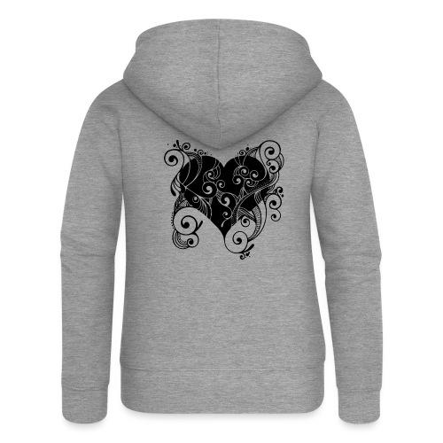 Isle of Heart Petal - Women's Premium Hooded Jacket