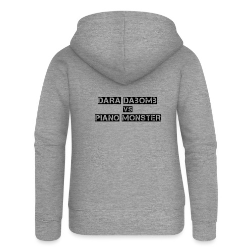 Dara DaBomb VS Piano Monster Range - Women's Premium Hooded Jacket