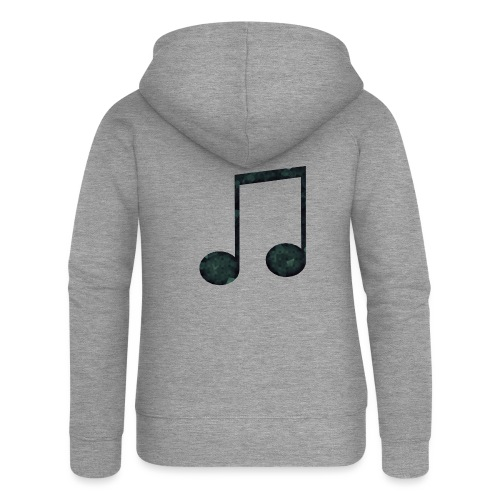 Low Poly Geometric Music Note - Women's Premium Hooded Jacket