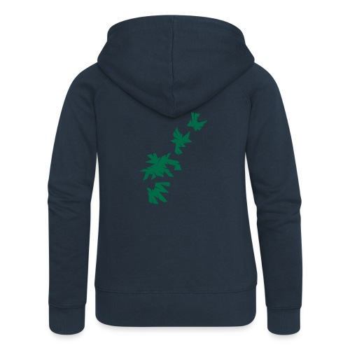 Green Leaves - Frauen Premium Kapuzenjacke