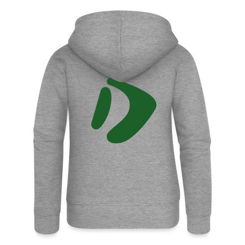 Logo D Green DomesSport - Frauen Premium Kapuzenjacke