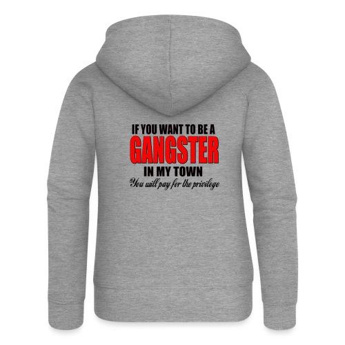 ville gangster - Veste à capuche Premium Femme