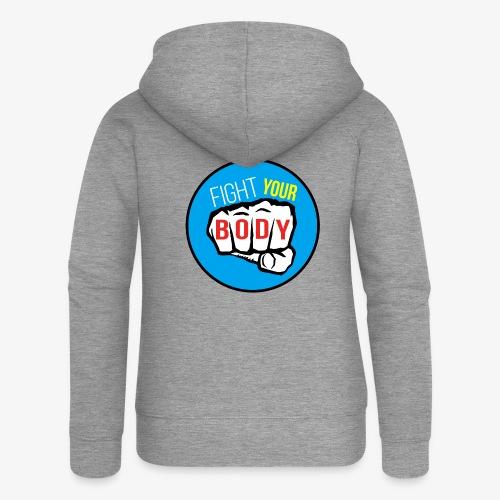 logo fyb bleu ciel - Veste à capuche Premium Femme
