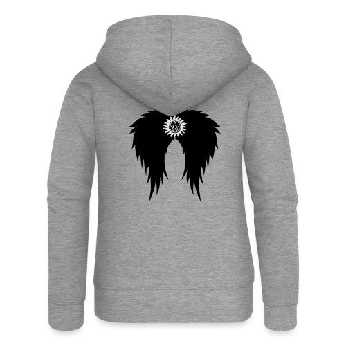 Supernatural wings (vector) Hoodies & Sweatshirts - Women's Premium Hooded Jacket