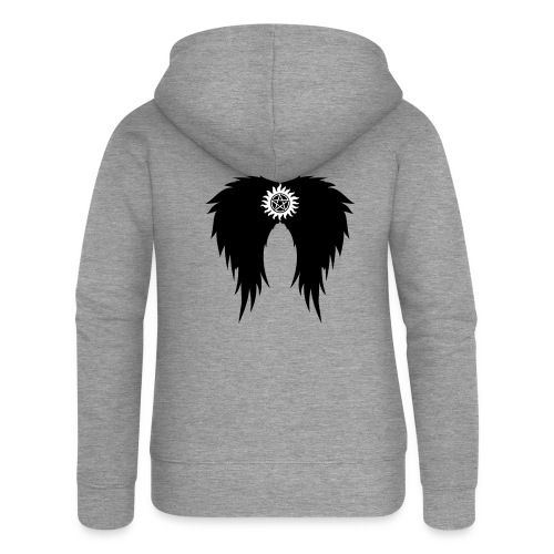 Supernatural wings (vector) Hoodies & Sweatshirts - Women's Premium Hooded Jacket