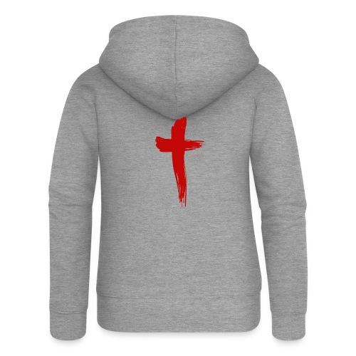 Kreuz rot - Frauen Premium Kapuzenjacke