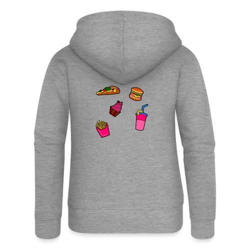 Fast Food Design - Frauen Premium Kapuzenjacke