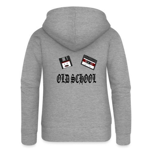 Old School Design - Frauen Premium Kapuzenjacke