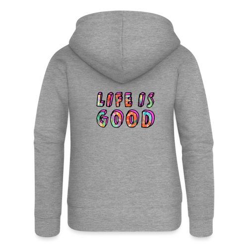 LifeIsGood - Women's Premium Hooded Jacket
