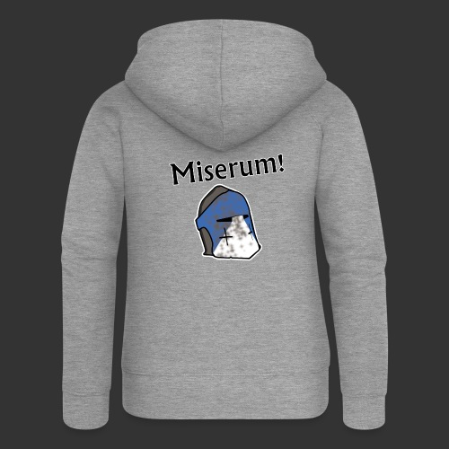 Warden Cytat Miserum! - Rozpinana bluza damska z kapturem Premium