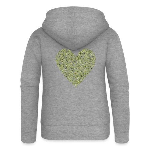 Herz abstrakt mit avocado hintergrund - Frauen Premium Kapuzenjacke