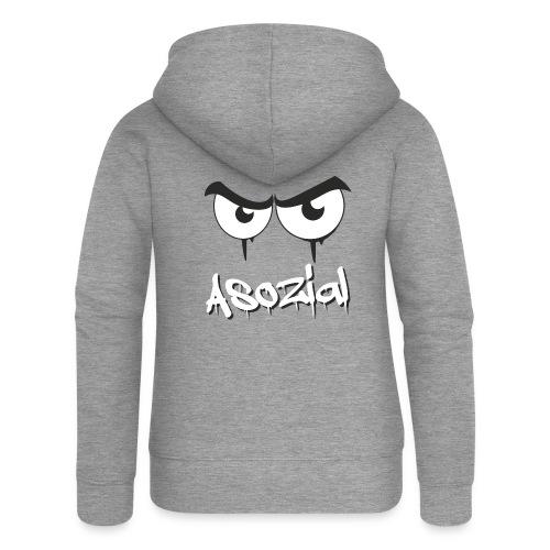 Asozial - Frauen Premium Kapuzenjacke