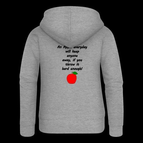 Apple Apfel Doctor Zitat Spruch Lustig - Frauen Premium Kapuzenjacke