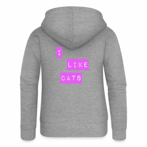 I like cats - Women's Premium Hooded Jacket