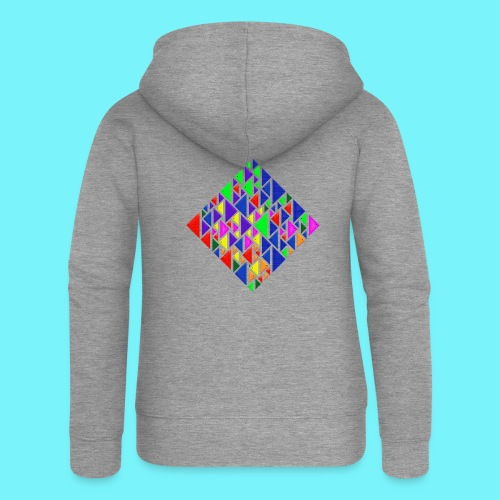 A square school of triangular coloured fish - Women's Premium Hooded Jacket