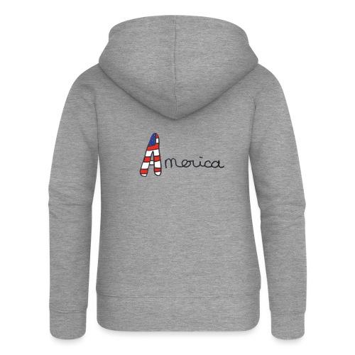 America - Veste à capuche Premium Femme
