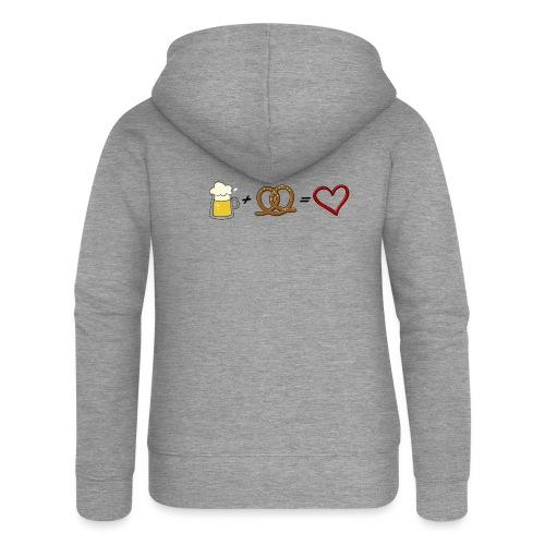 pretzel + beer = love - Women's Premium Hooded Jacket