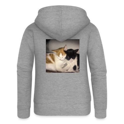 Schlafende Kätzchen - Frauen Premium Kapuzenjacke
