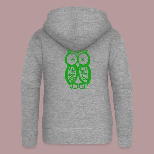 Save owls - Veste à capuche Premium Femme