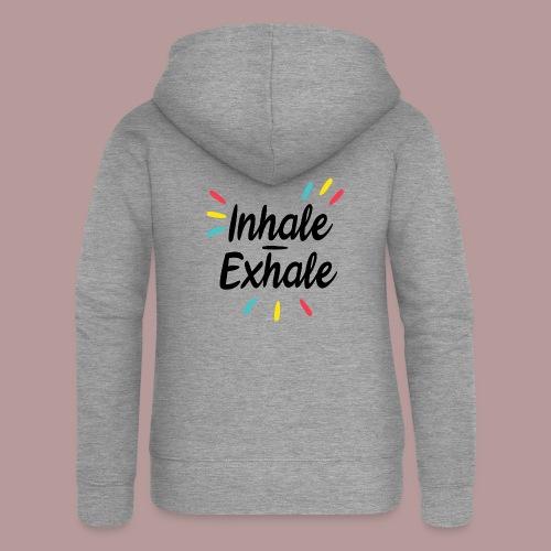 Inhale exhale yoga namaste - Veste à capuche Premium Femme