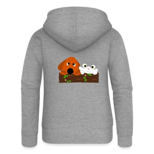 Hund & Katz - Frauen Premium Kapuzenjacke