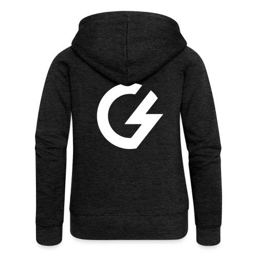 Giacomini Lab - Logo - Felpa con zip premium da donna