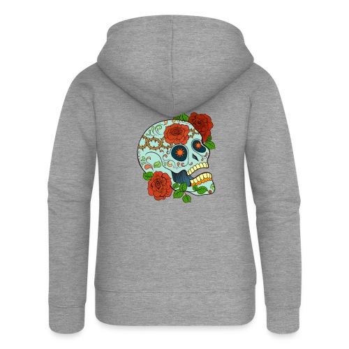 Mexican Skull 5 - Felpa con zip premium da donna