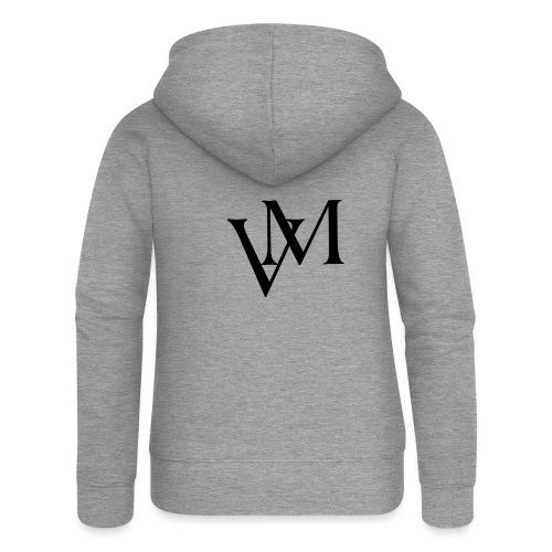 Lettere VM - Felpa con zip premium da donna