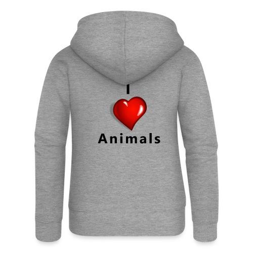 i love animals - Vrouwenjack met capuchon Premium