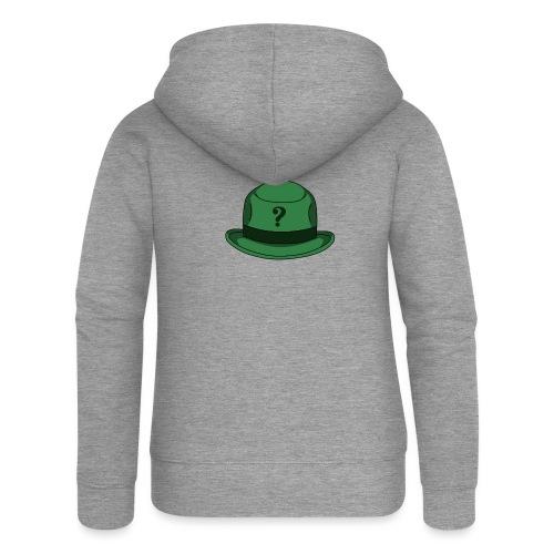 Grüner Rätsel Hut Riddler - Frauen Premium Kapuzenjacke