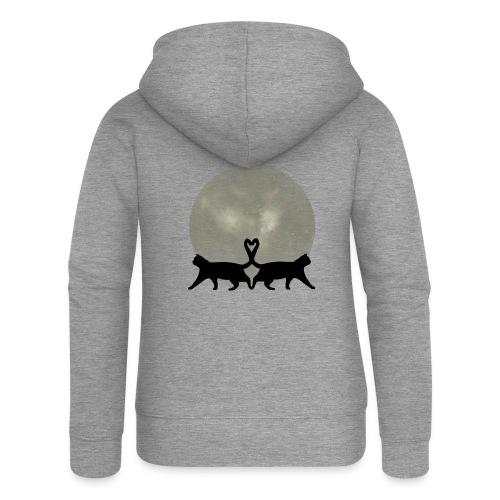 Cats in the moonlight - Vrouwenjack met capuchon Premium