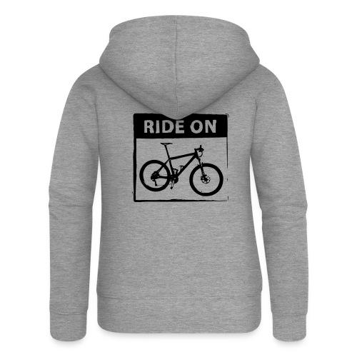 Ride On MTB 1 Color - Frauen Premium Kapuzenjacke