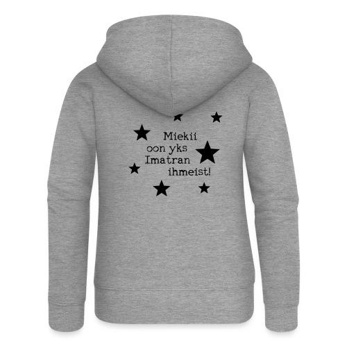 Miekii oon yks Imatran Ihmeist lasten t-paita - Naisten Girlie svetaritakki premium