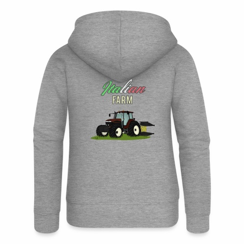 Italian Farm official T-SHIRT - Felpa con zip premium da donna