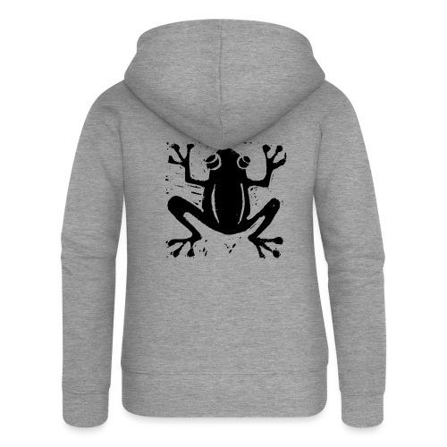 Crafty Wotnots Tree Frog - Women's Premium Hooded Jacket