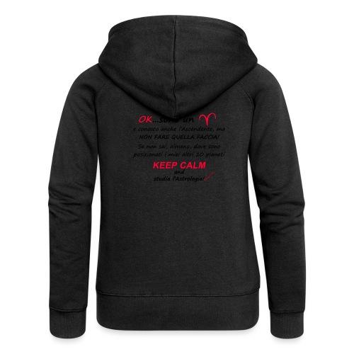 ARIETE - Felpa con zip premium da donna