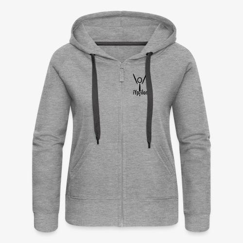 iYpsilon Logo vorne, Yoga hinten - Frauen Premium Kapuzenjacke