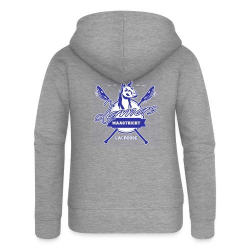 Llamas - Maastricht Lacrosse - Blauw - Vrouwenjack met capuchon Premium