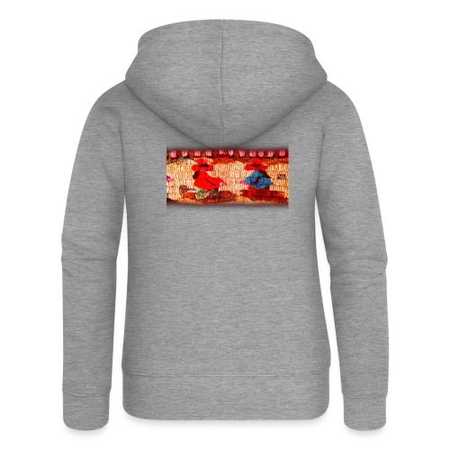 Dos Paisanitas tejiendo telar inca - Women's Premium Hooded Jacket