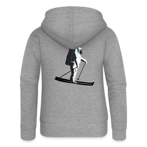 Moonlight Skiing - Women's Premium Hooded Jacket