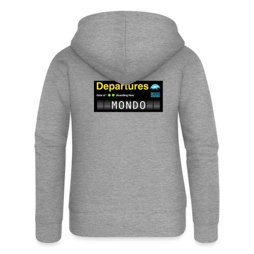 Departures MONDO jpg - Felpa con zip premium da donna