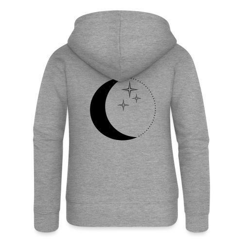 Moon and stars - Frauen Premium Kapuzenjacke