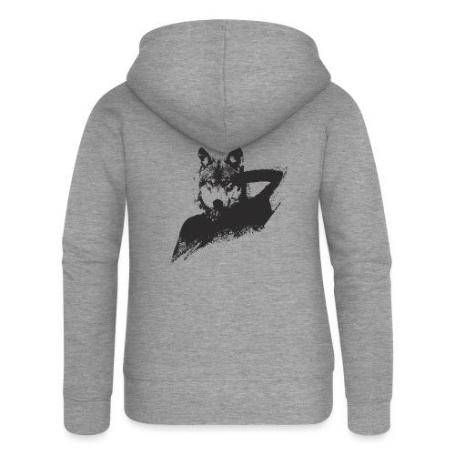 illustration zoom loup noir - Veste à capuche Premium Femme