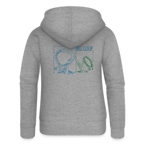 big_loop_coaster_shirt_line - Frauen Premium Kapuzenjacke